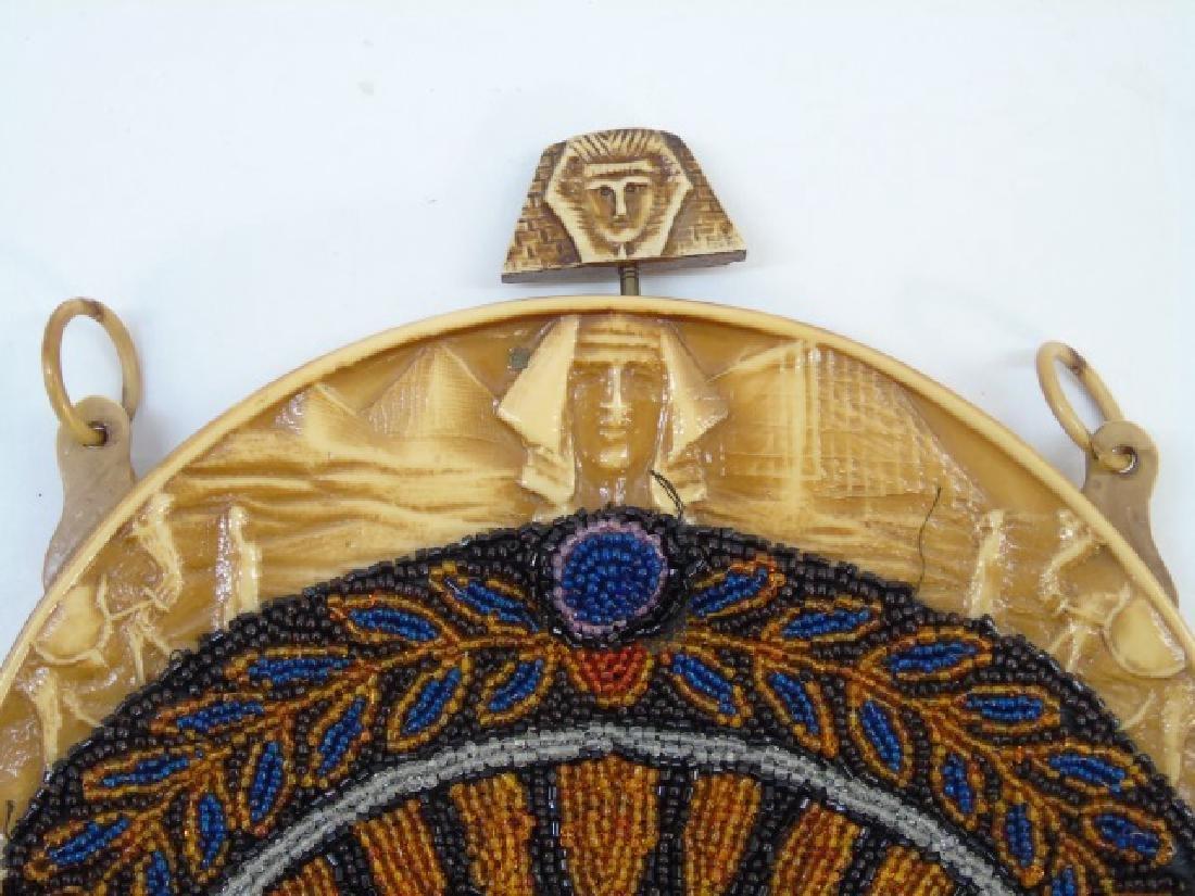 Vintage Egyptian Revival Beaded Ladies Purse - 3