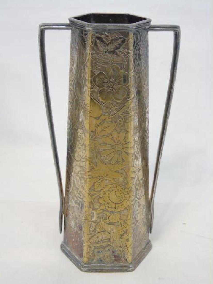 Antique Sterling Silver Basket & Silver Plate Vase - 3