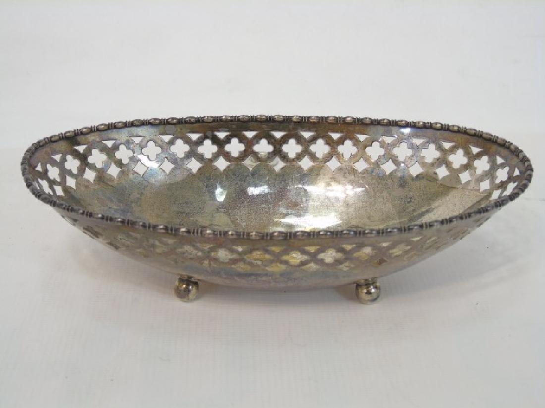 Antique Sterling Silver Basket & Silver Plate Vase - 4
