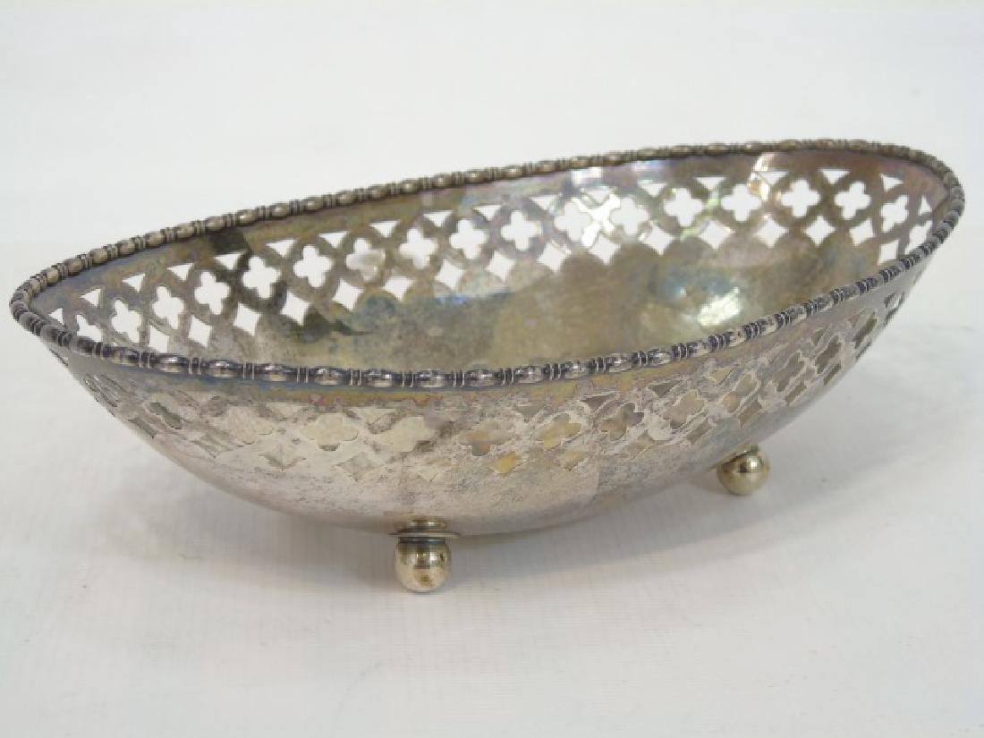 Antique Sterling Silver Basket & Silver Plate Vase - 5