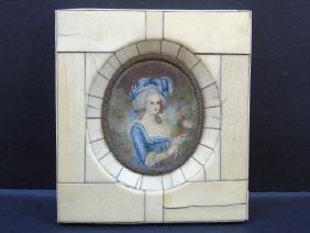 Antique Portrait Miniature of Marie Antoinette