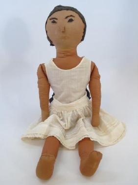Antique American Handmade / Hand Sewn Rag Doll