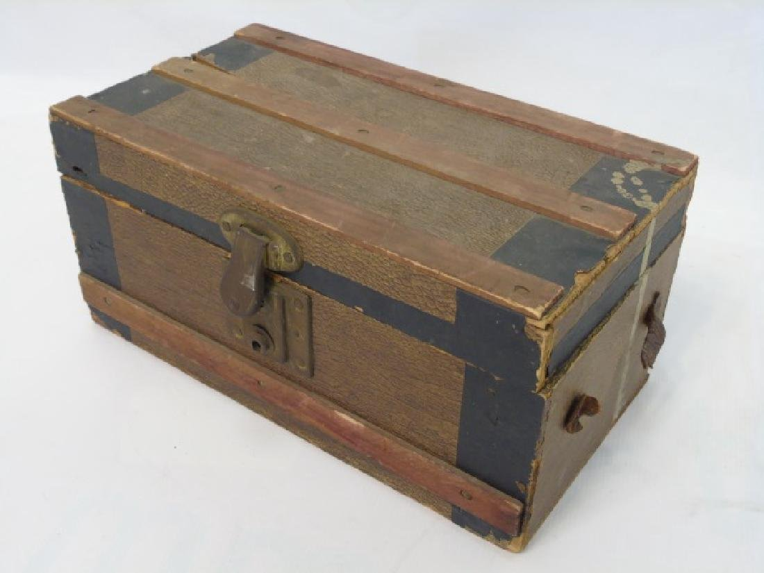Antique 19th C Doll Trunk w Clothing & Accessories - 3