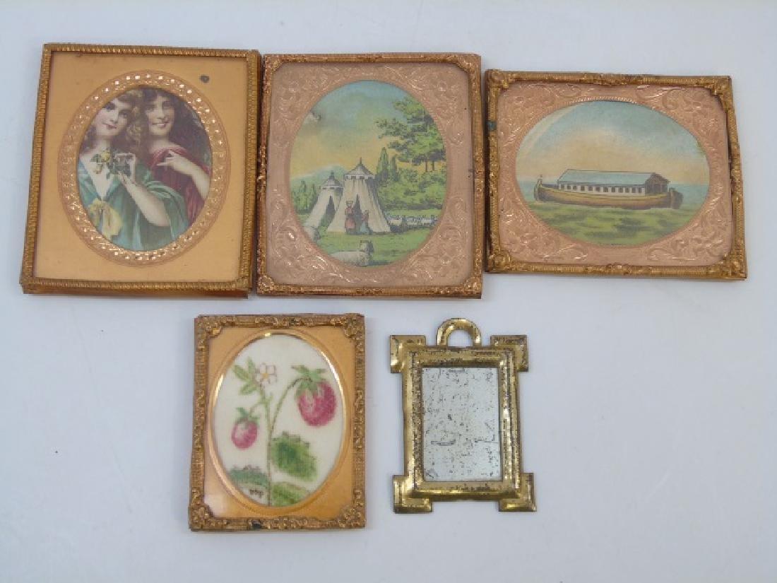 Group Antique Dollhouse Ormolu Miniature Frames