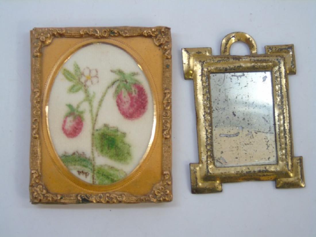 Group Antique Dollhouse Ormolu Miniature Frames - 2