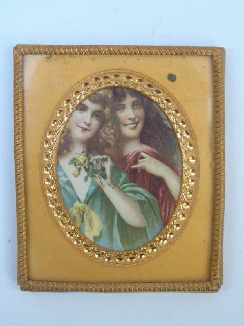 Group Antique Dollhouse Ormolu Miniature Frames - 3