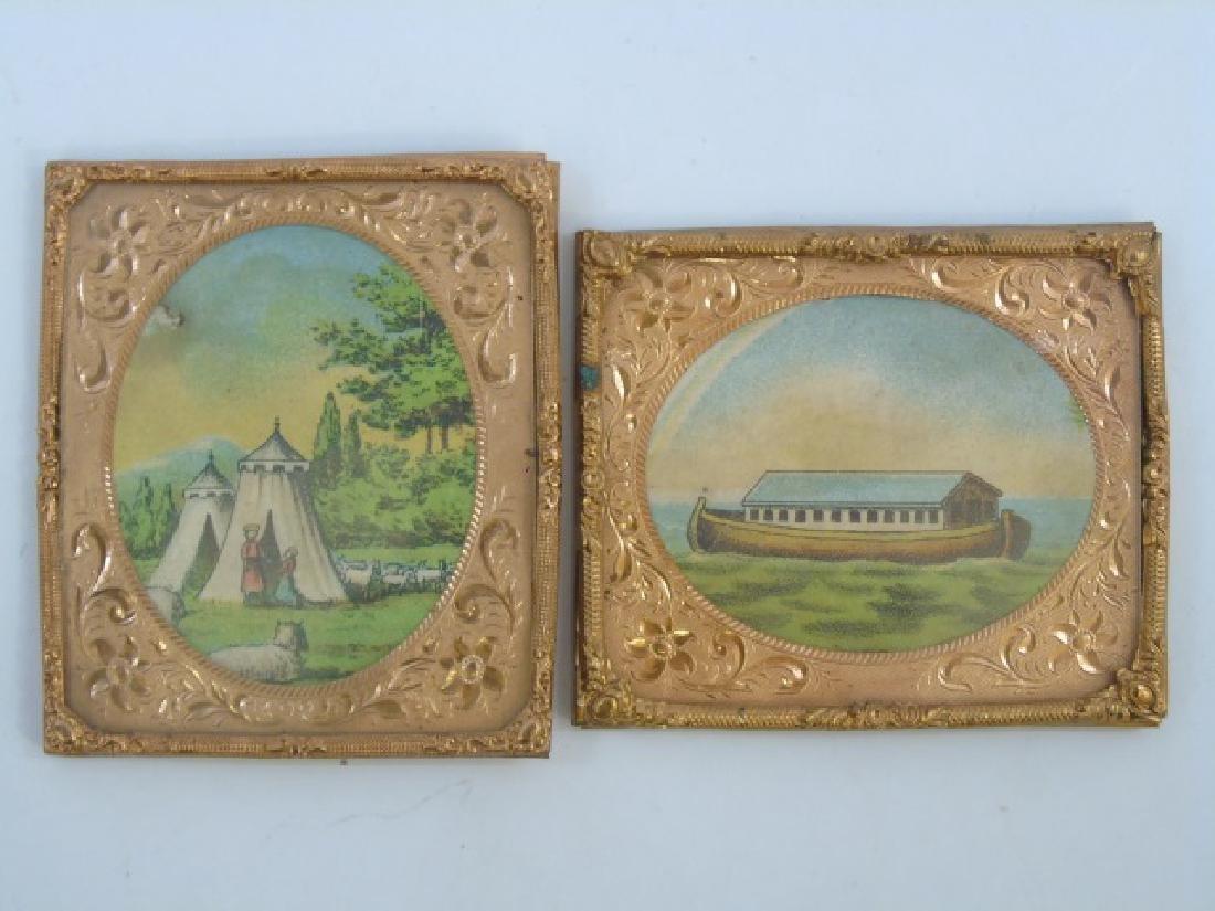 Group Antique Dollhouse Ormolu Miniature Frames - 4