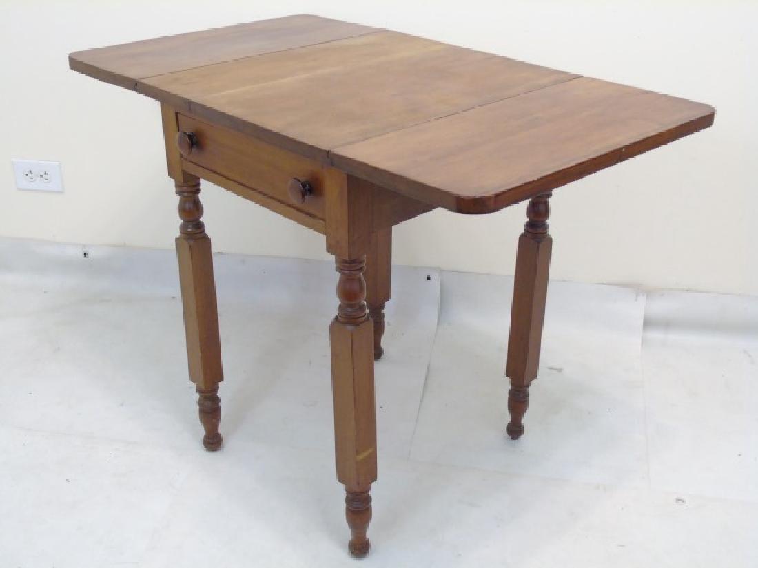 Antique Maple Drop Leaf Bedside Table