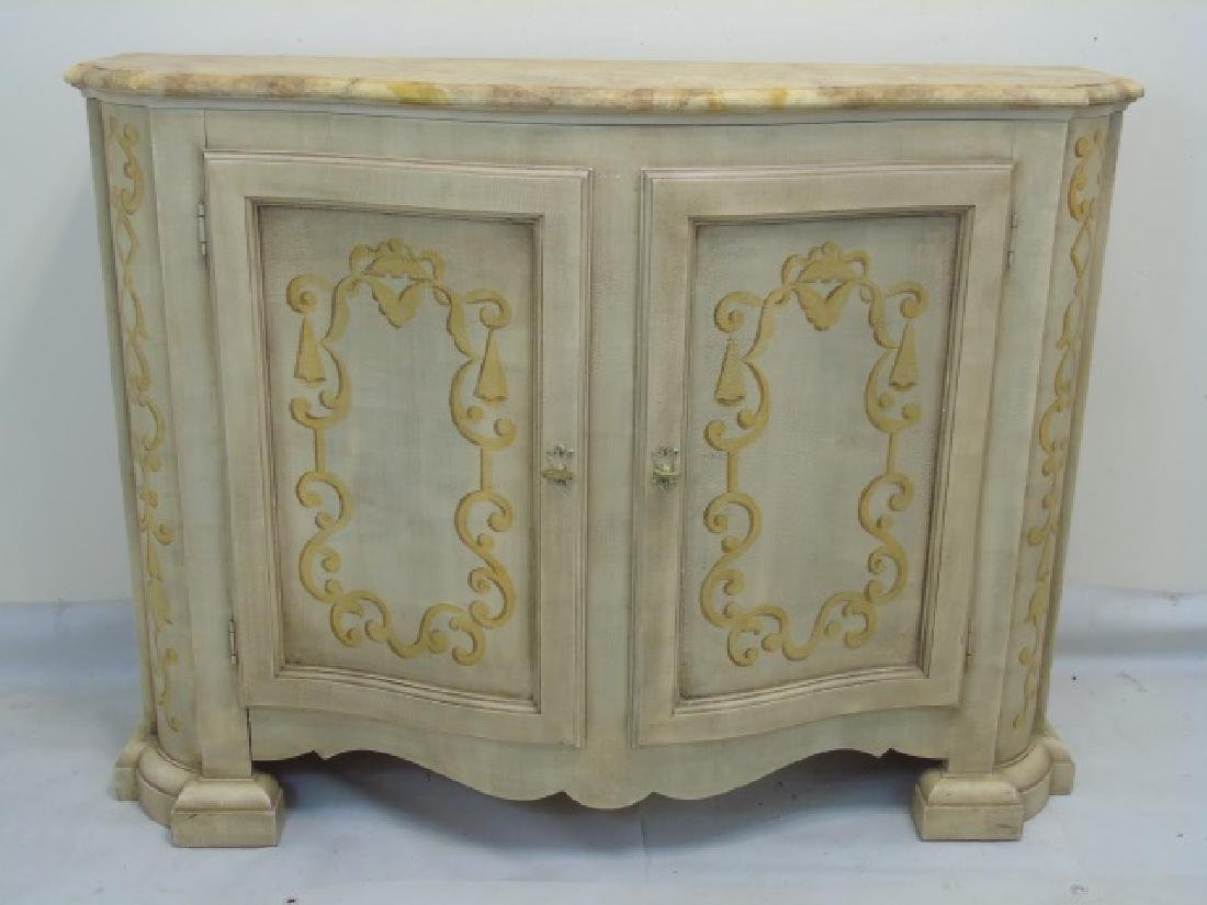 Hand Painted Baker Side Board Console Credenza