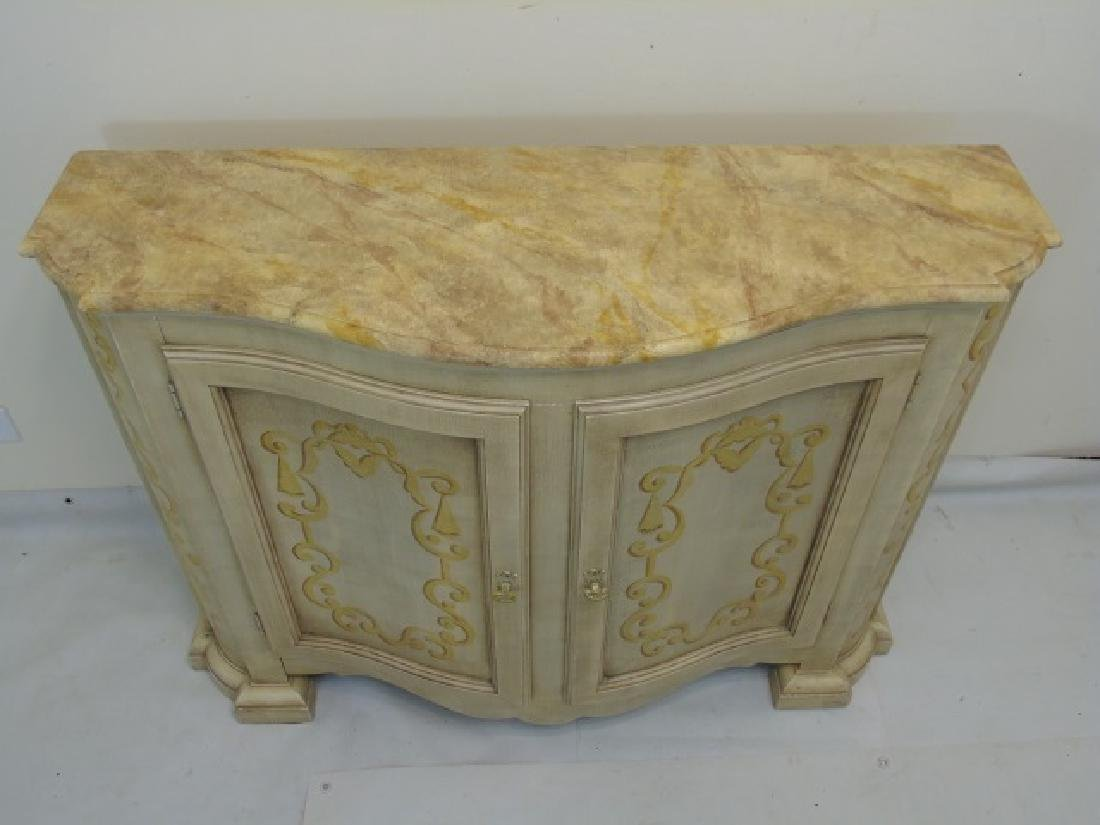 Hand Painted Baker Side Board Console Credenza - 3