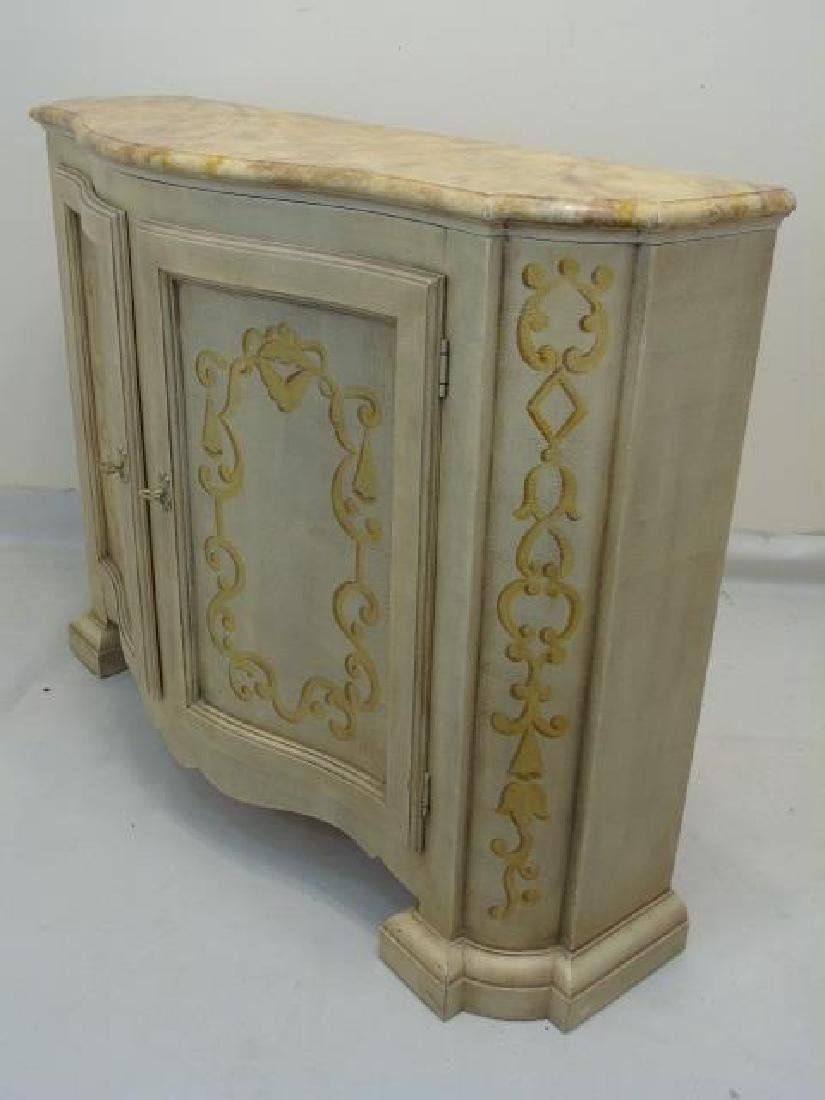 Hand Painted Baker Side Board Console Credenza - 5