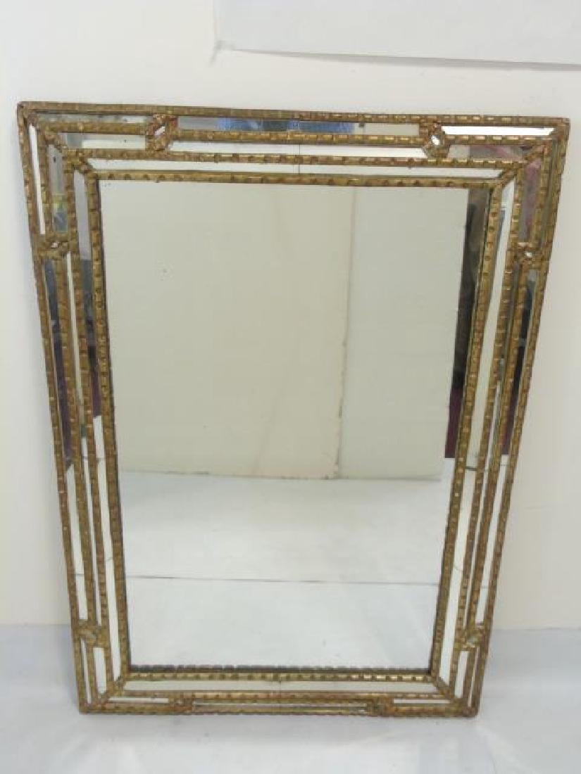French Style Carved Wood Framed Mirror