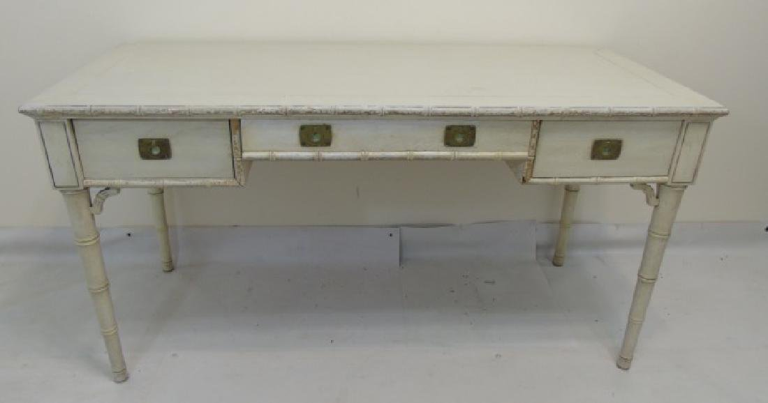 French Style Cream & Gold Painted Console Table