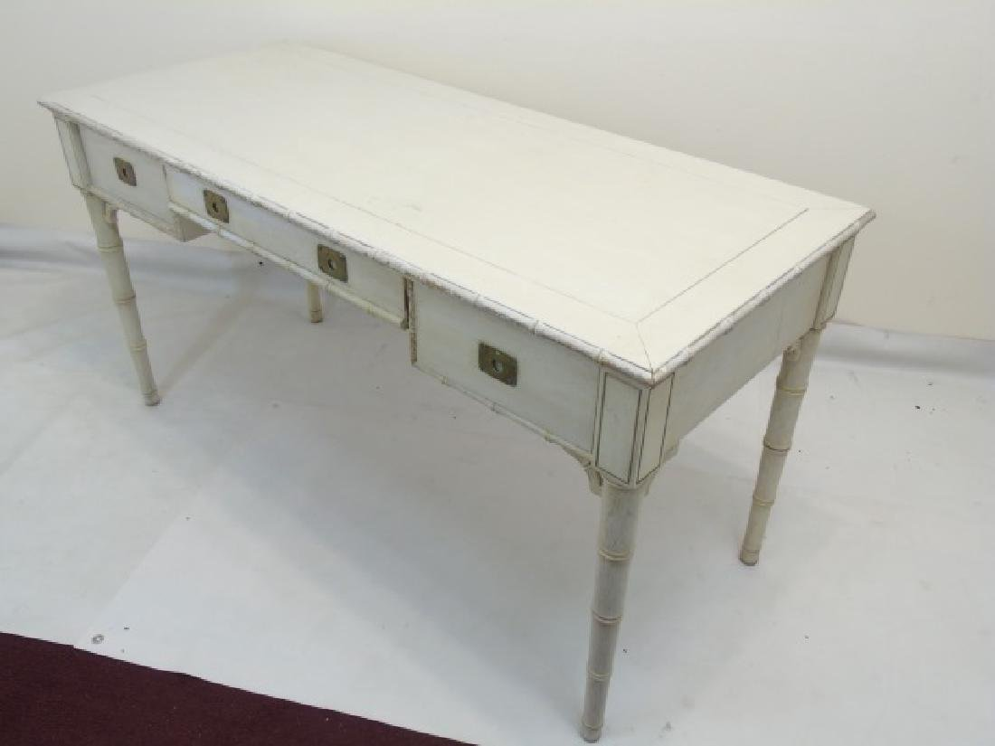 French Style Cream & Gold Painted Console Table - 2
