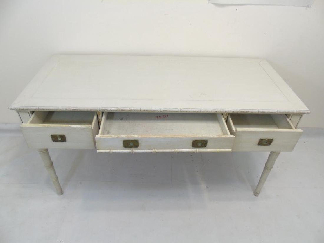 French Style Cream & Gold Painted Console Table - 4