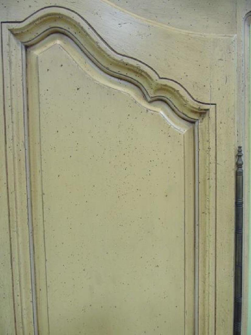 Vintage French Style Yellow Painted Armoire 2 Door - 4