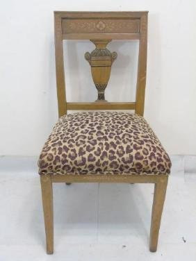 One Antique Urn Back Empire Style Side Chair