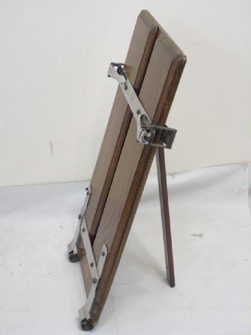 Antique Oak & Metal Watts Upright Trouser Press