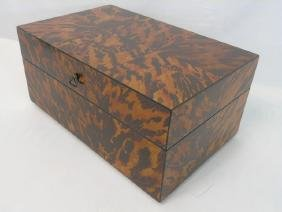 Large Hand Painted Faux Tortoise Shell Box