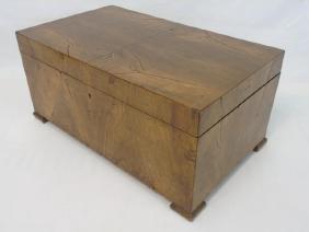 Antique Maple Veneer Box or Travel Desk or Trunk