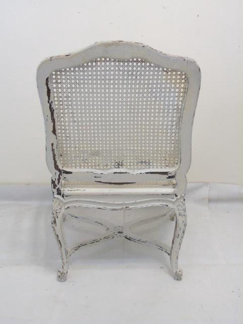 Antique Carved French Rococo Style Caned Armchair - 2