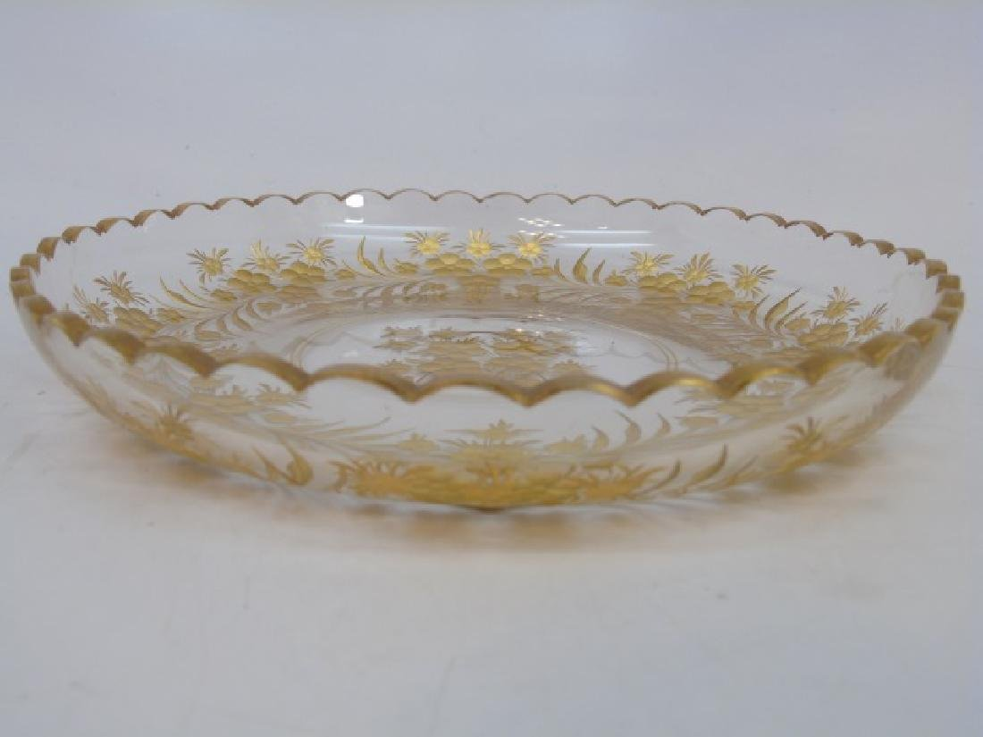 Antique French Baccarat Style Gilt Glass Compotes - 3