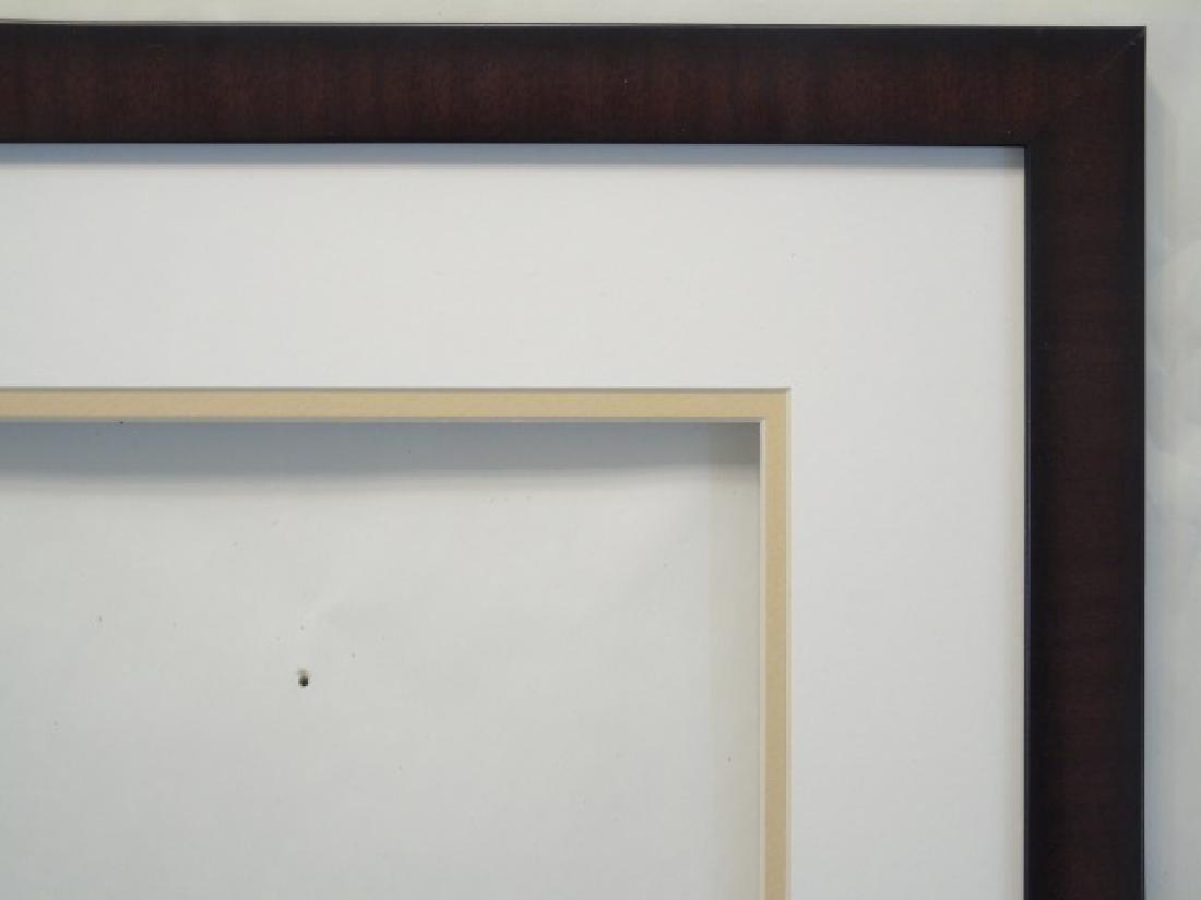 Contemporary Black Frame w Custom Double Mat - 2