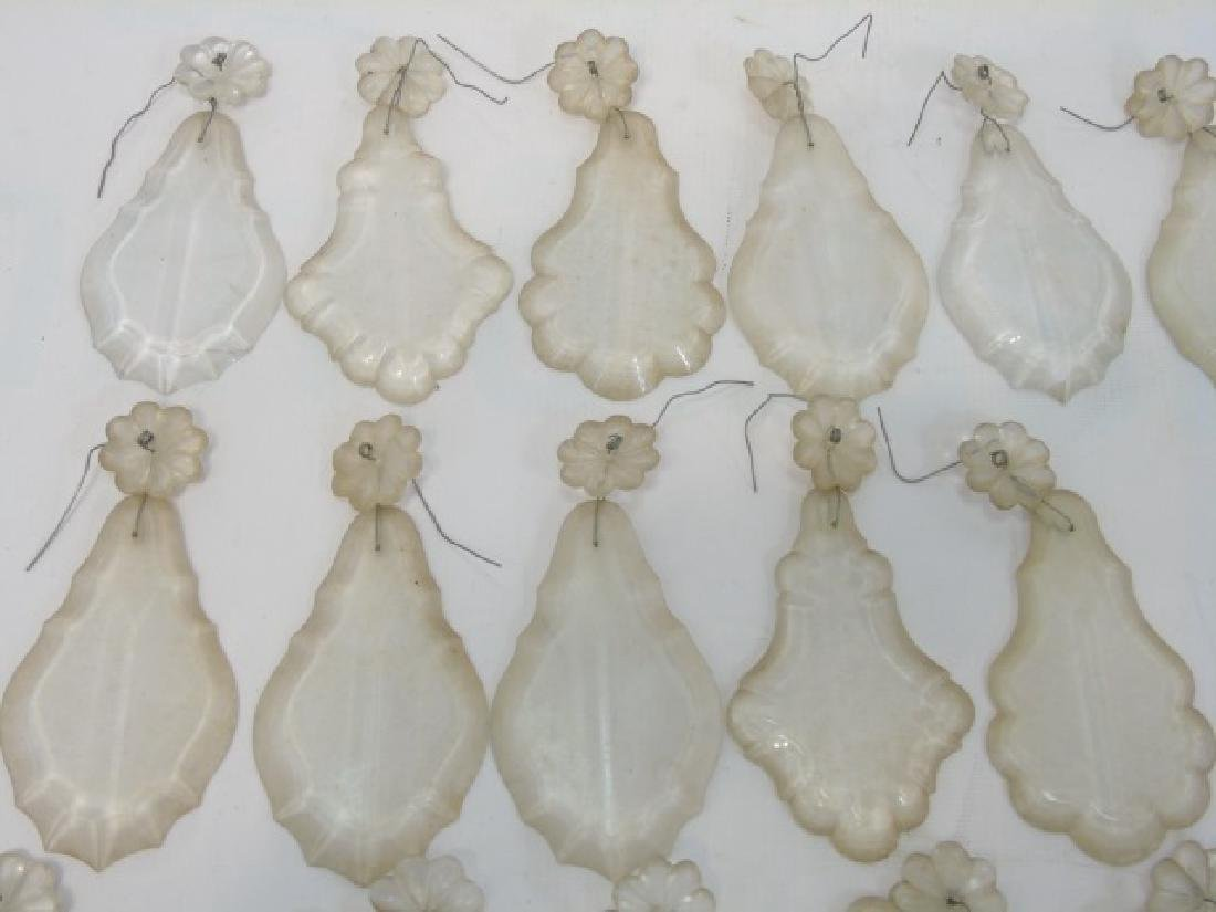 Antique Chandelier Glass Crystals & Lamp Finials - 4