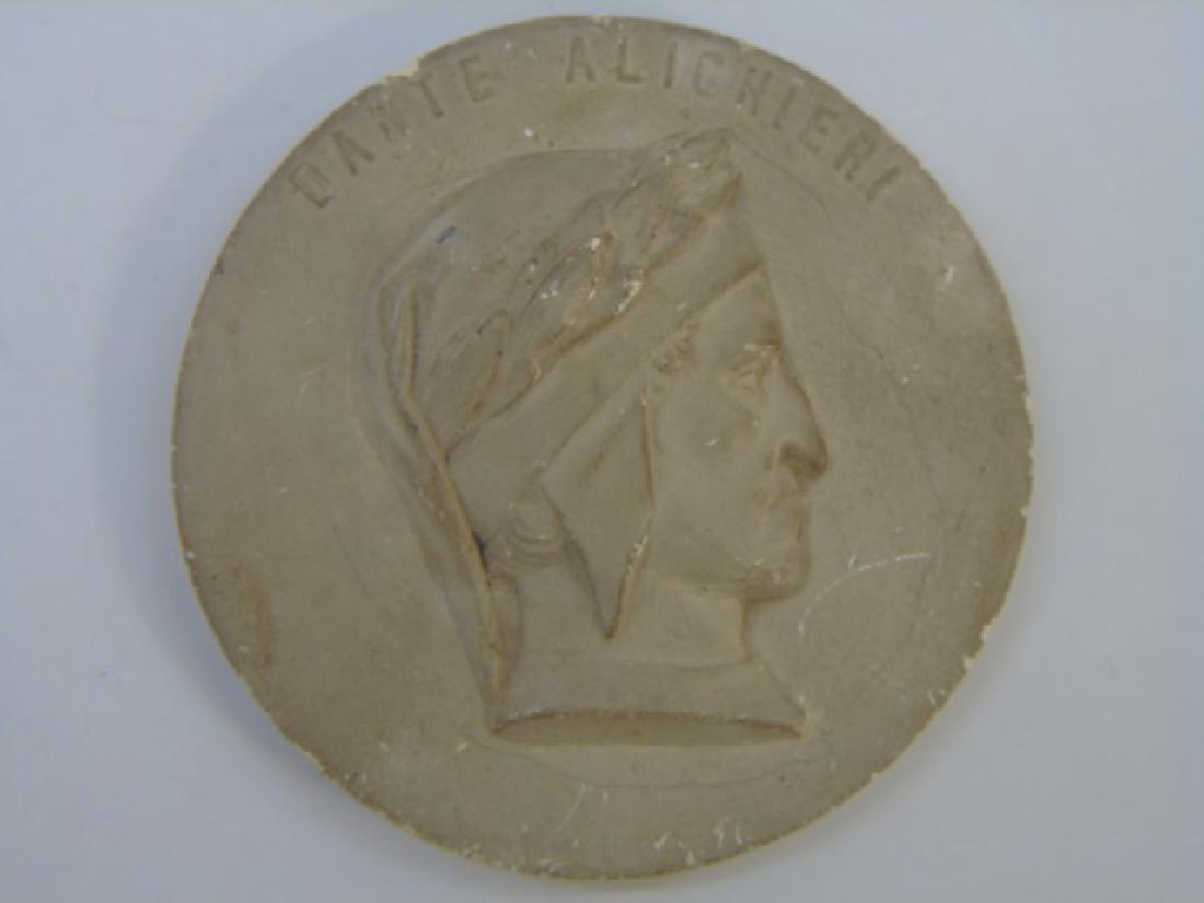 Antique Grand Tour Bust Plaque of Dante Alighieri