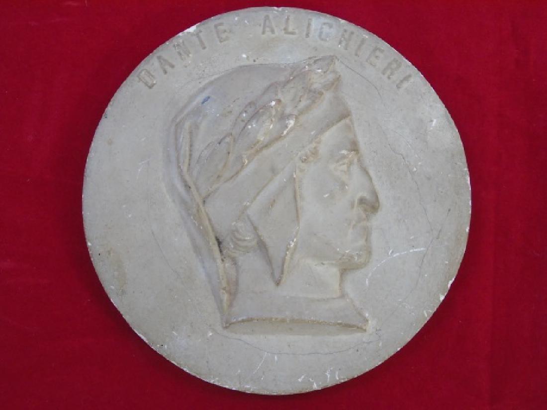 Antique Grand Tour Bust Plaque of Dante Alighieri - 2