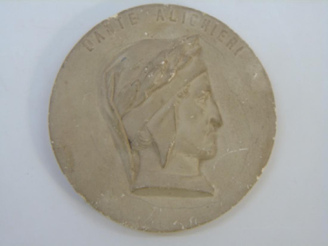 Antique Grand Tour Bust Plaque of Dante Alighieri - 3
