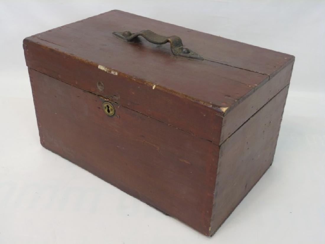 Antique 19th C American Dovetailed Document Box