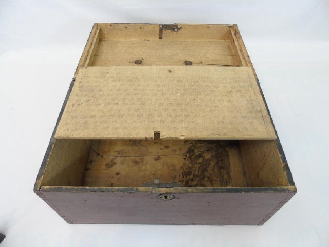 Antique 19th C American Dovetailed Document Box - 2