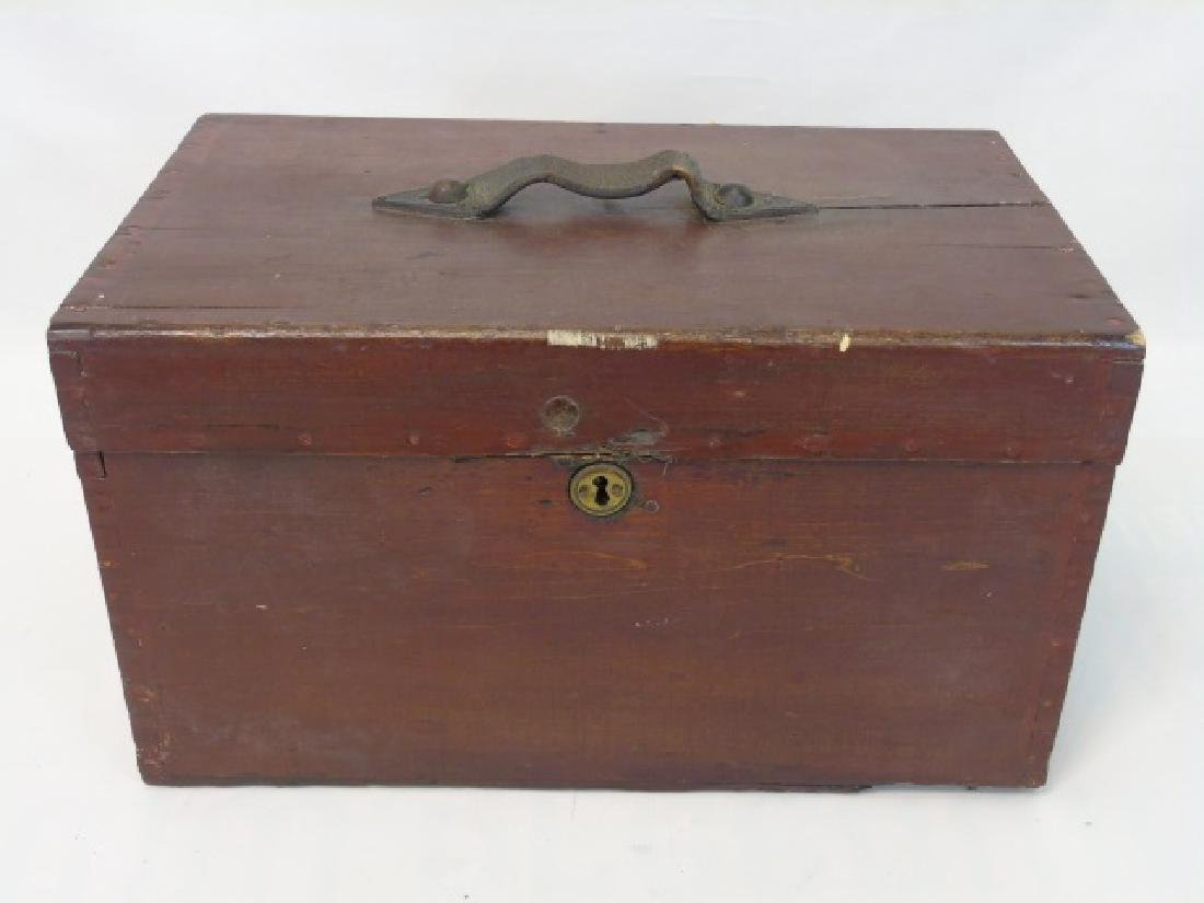 Antique 19th C American Dovetailed Document Box - 3