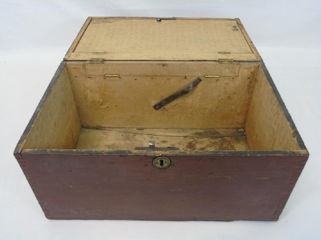 Antique 19th C American Dovetailed Document Box - 4