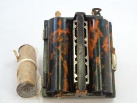 Antique Marbled Bakelite Rolmonica Harmonica
