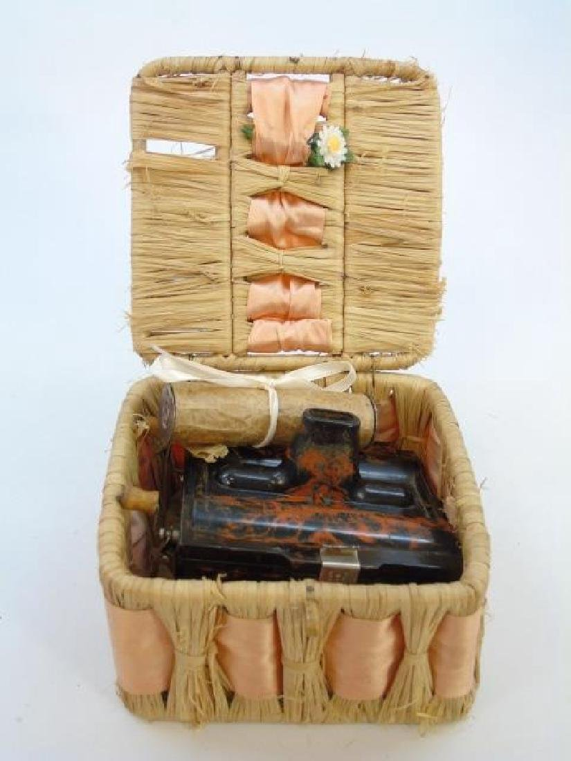 Antique Marbled Bakelite Rolmonica Harmonica - 3