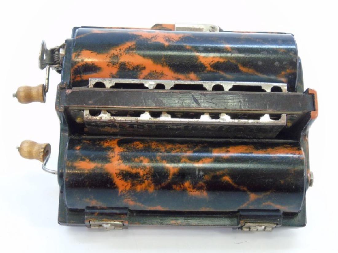 Antique Marbled Bakelite Rolmonica Harmonica - 4