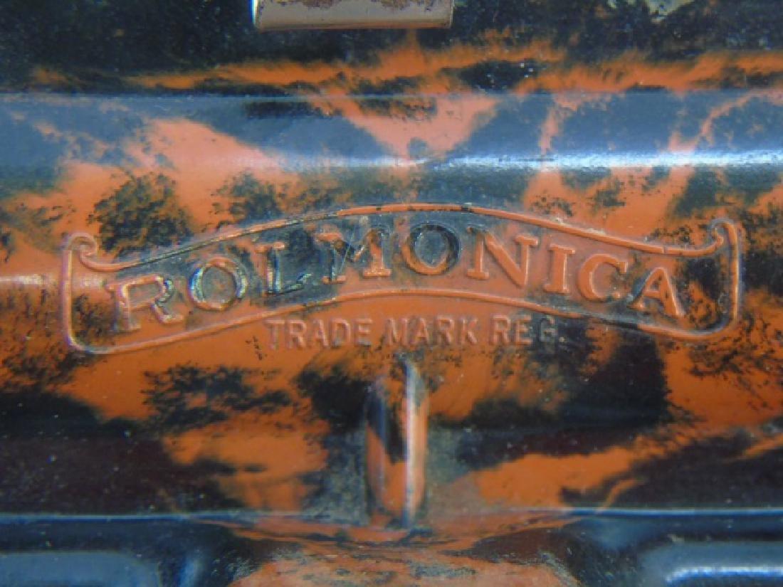 Antique Marbled Bakelite Rolmonica Harmonica - 5