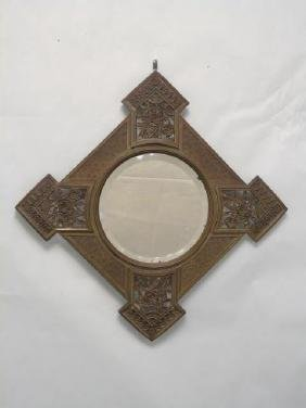 Antique 19th C Victorian Gilt Bronze Frame Mirror