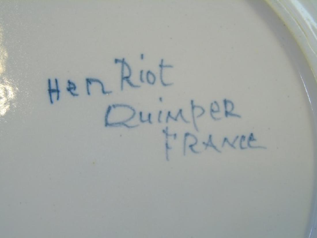 Group of Vintage Quimper Faience Bowls & Plates - 4