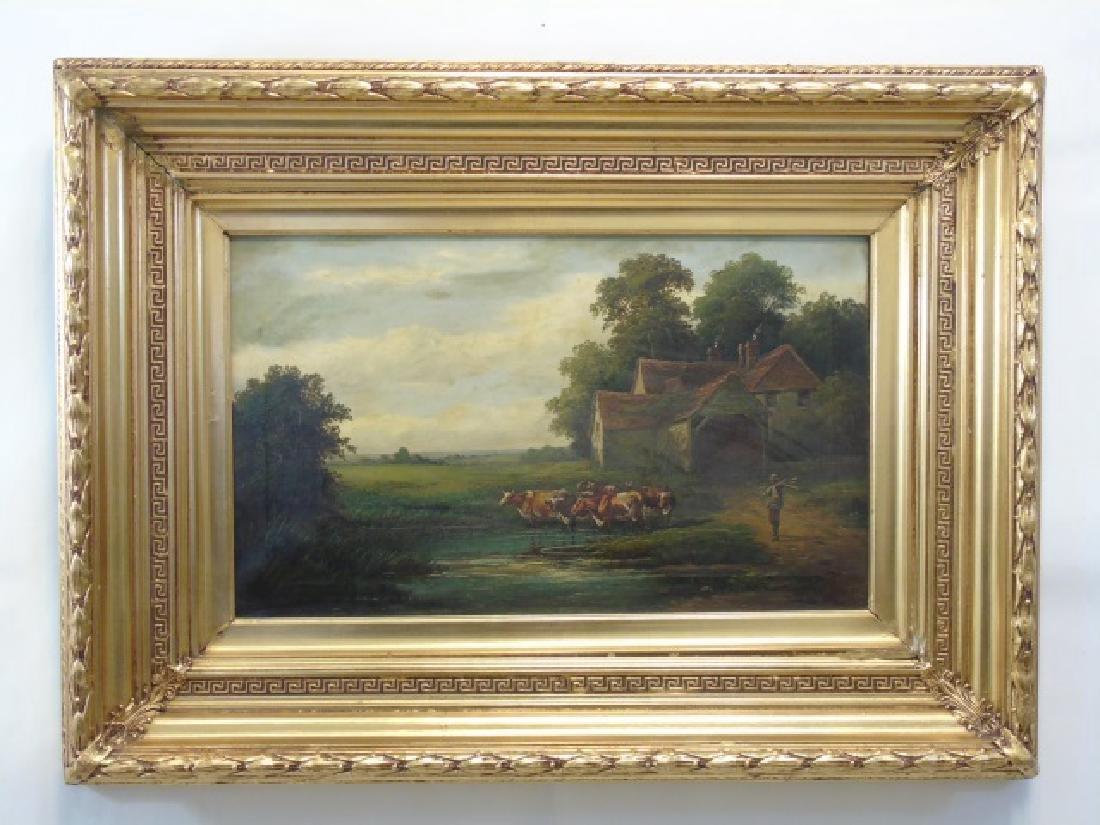 W. P. Cartwright Oil on Canvas Farm in Surrey 1905