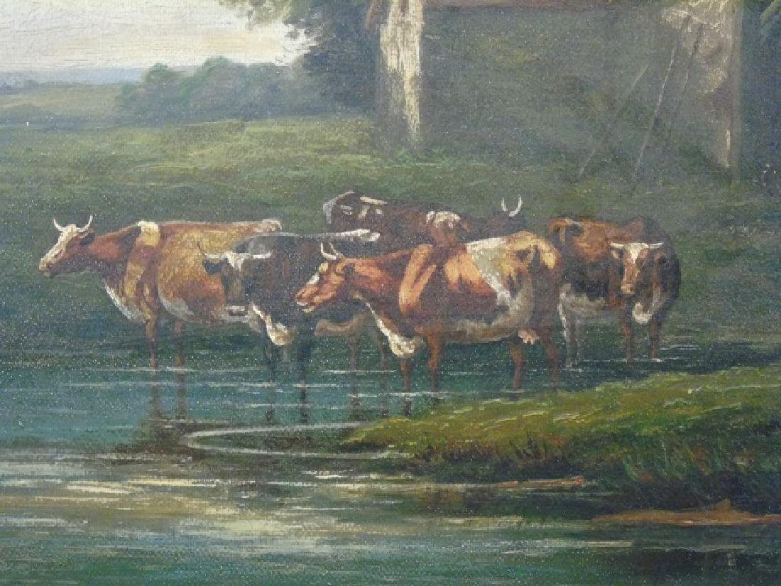 W. P. Cartwright Oil on Canvas Farm in Surrey 1905 - 3