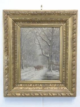 Rasmus Rasmussen Antique Danish Landscape Painting