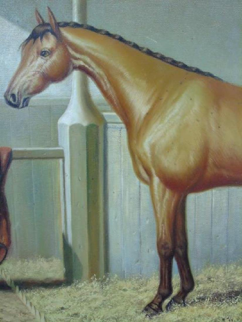 Fine Equestrian Oil on Canvas Signed Borman - 3