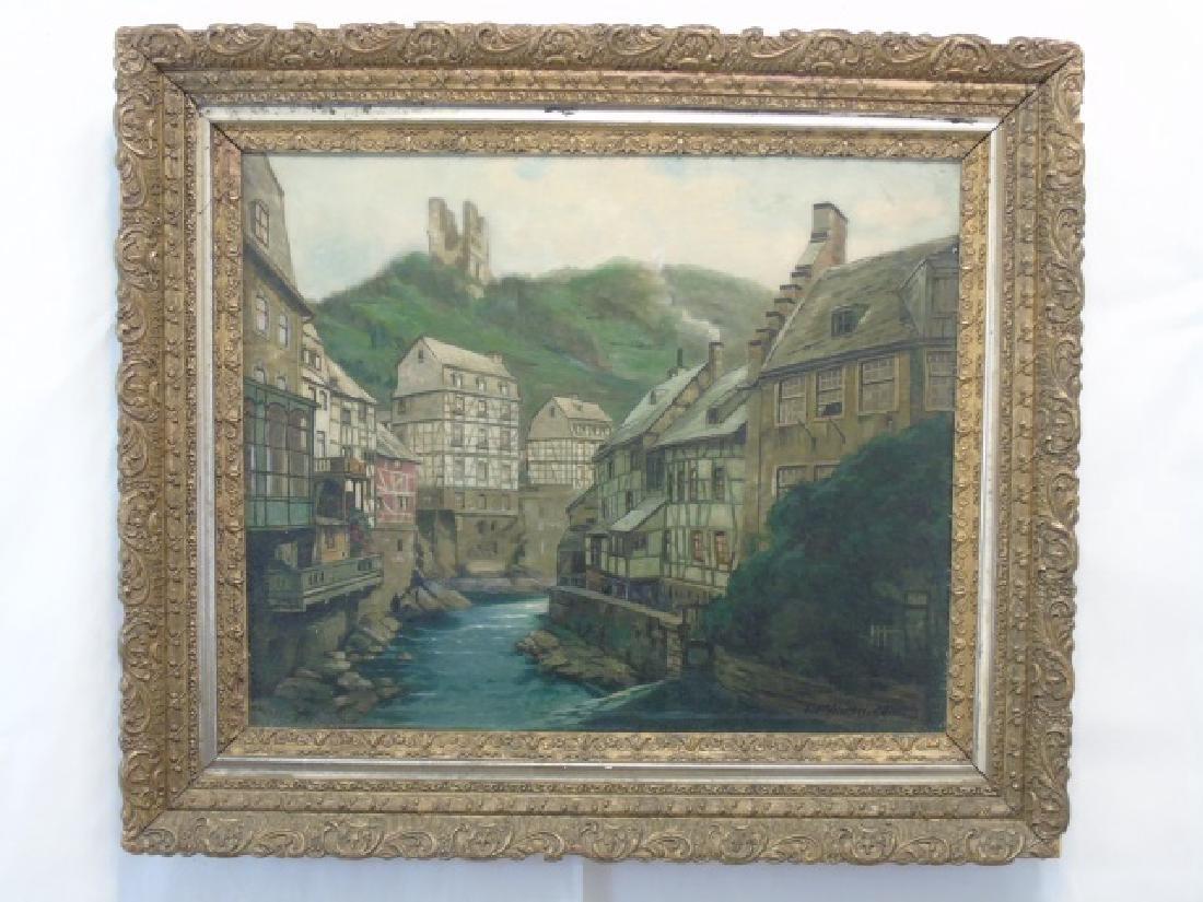 Mont Joie / Eiffel Oil on Canvas by L. Mohren-Colm