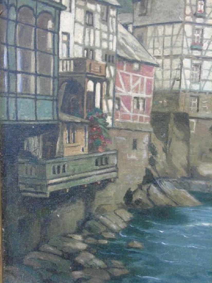 Mont Joie / Eiffel Oil on Canvas by L. Mohren-Colm - 3