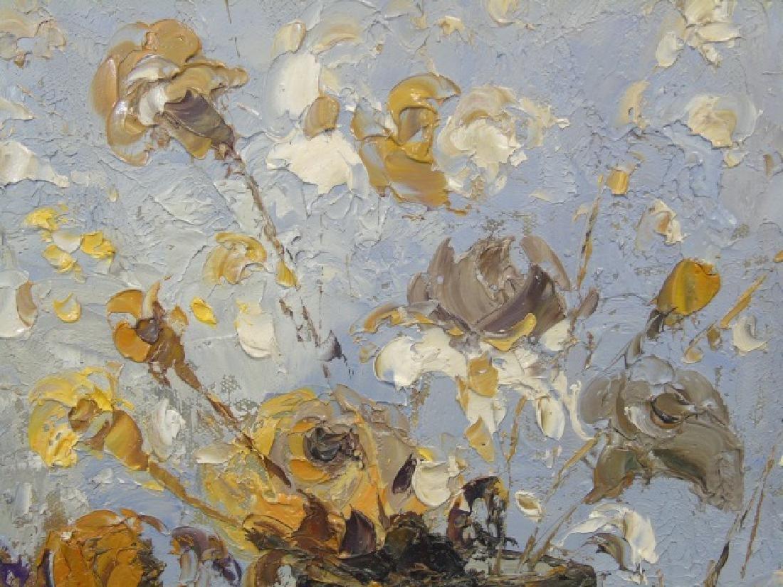 Still Life w Vases & Flowers Signed J. Alvin - 2