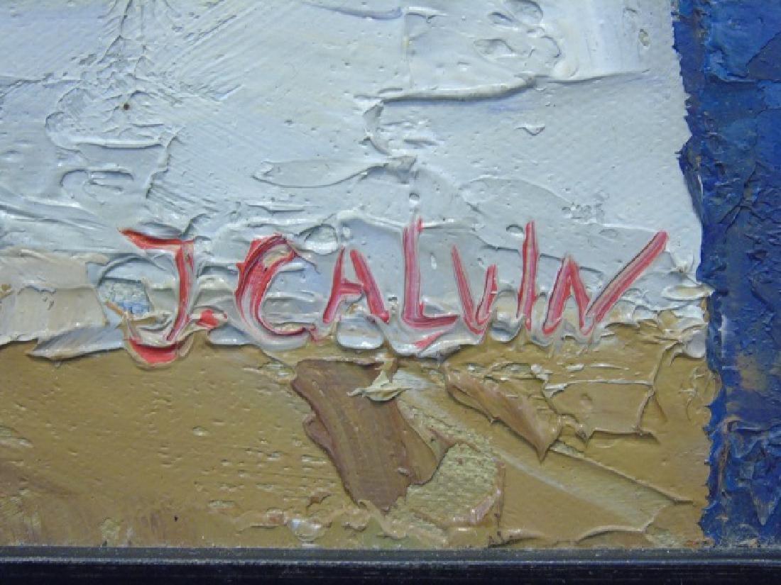 Still Life w Vases & Flowers Signed J. Alvin - 3