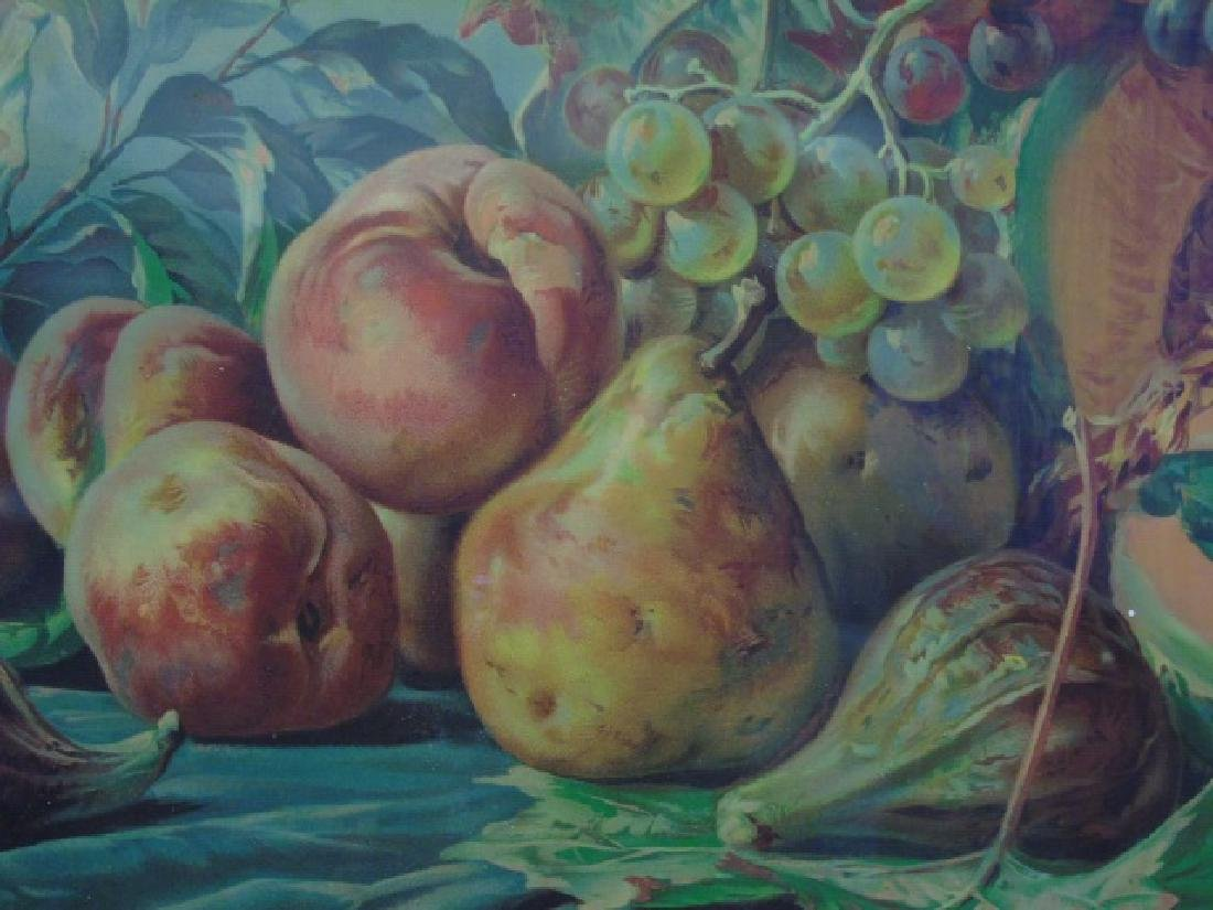 Fruit Still Life Wonderful Painted Tramp Art Frame - 2